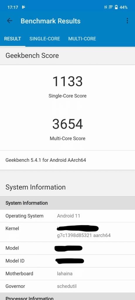 Snapdragon 888+ scores Geekbench